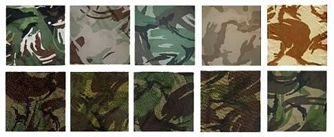 Образцы камуфляжа - Disruptive Pattern Material